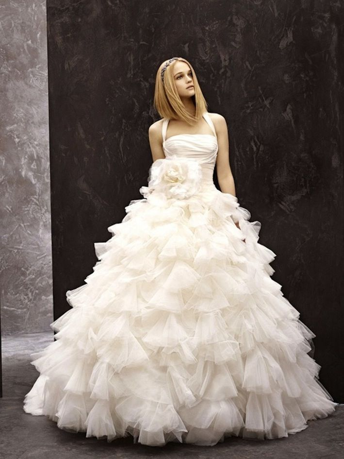 fall 2012 wedding dress White by Vera Wang bridal gowns halter ballgown 351075