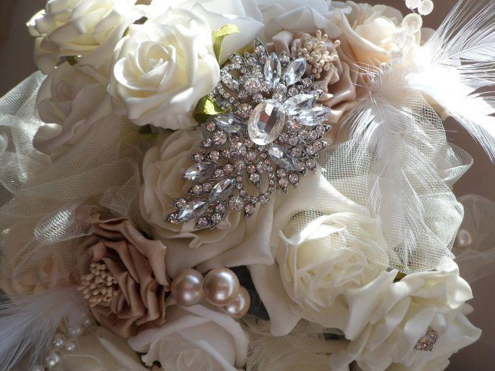 vintage wedding ideas Downton Abbey edwardian wedding style bridal bouquet