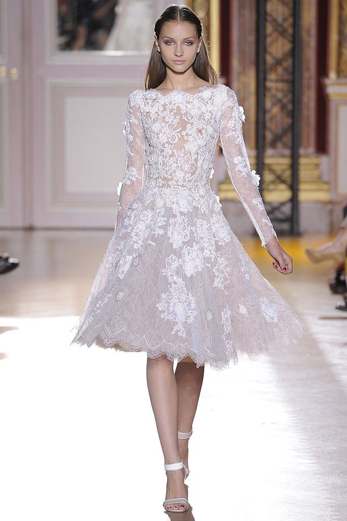 runway to white aisle wedding dress inspiration fall 2012 zuhair murad 1