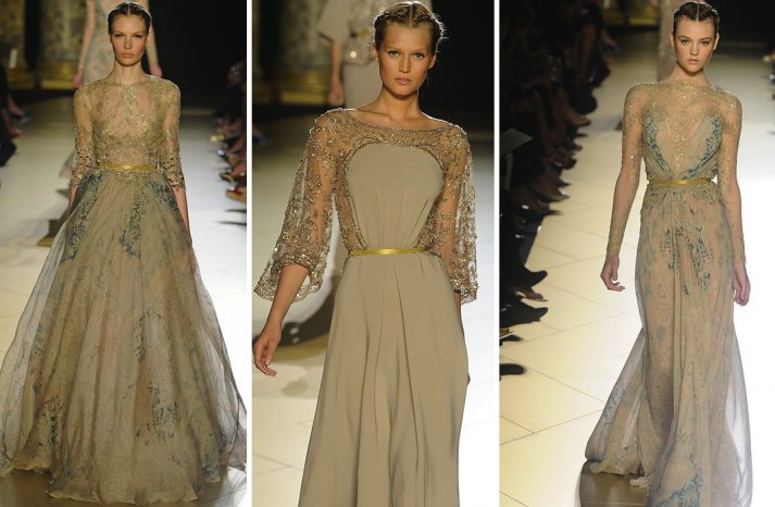 runway to white aisle wedding dress inspiration elie saab couture fall 2012 7