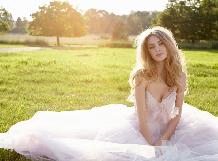 fall 2012 wedding dress blush bridal gowns soft pink