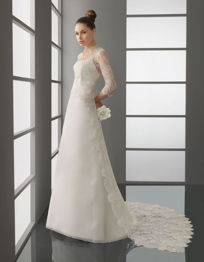 romantic lace wedding dress rosa clara bridal gown 2012 Patty