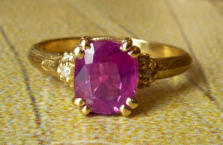 unique engagement rings wedding bands on etsy rasberry gemstone