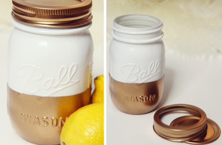 summer wedding DIY ideas handpainted mason jars