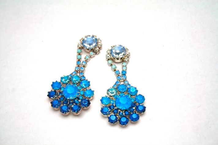 something blue wedding earrings