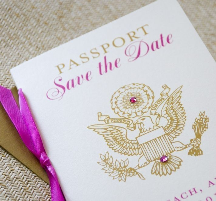 fuchsia gold wedding inspiration unique wedding save the date