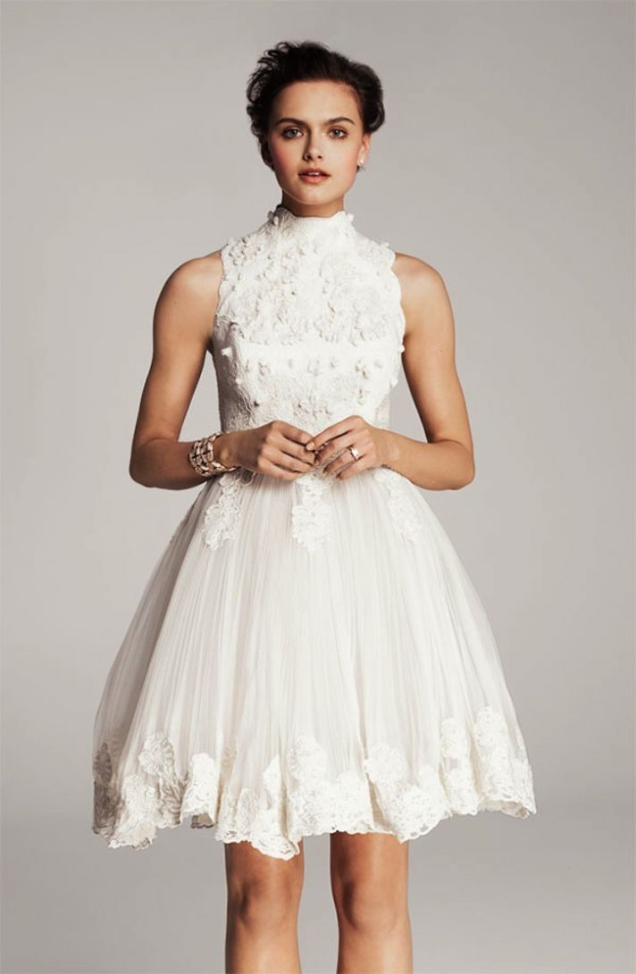 lace little white wedding dresses for the wedding reception LWDs Ted Baker