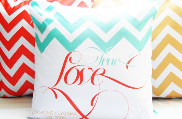 chevron wedding inspiration decorative pillows for reception lounge