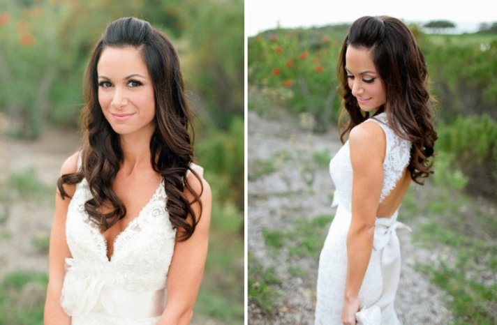 all down wedding hairstyles bridal beauty inspiration 1