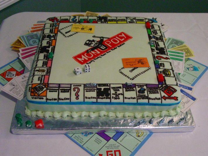 creative grooms cakes Monopoly