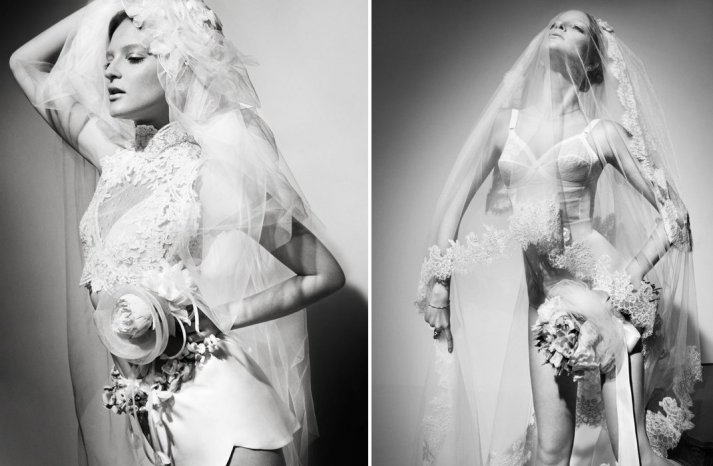 romantic bridal lingerie for the wedding night Vogue 1