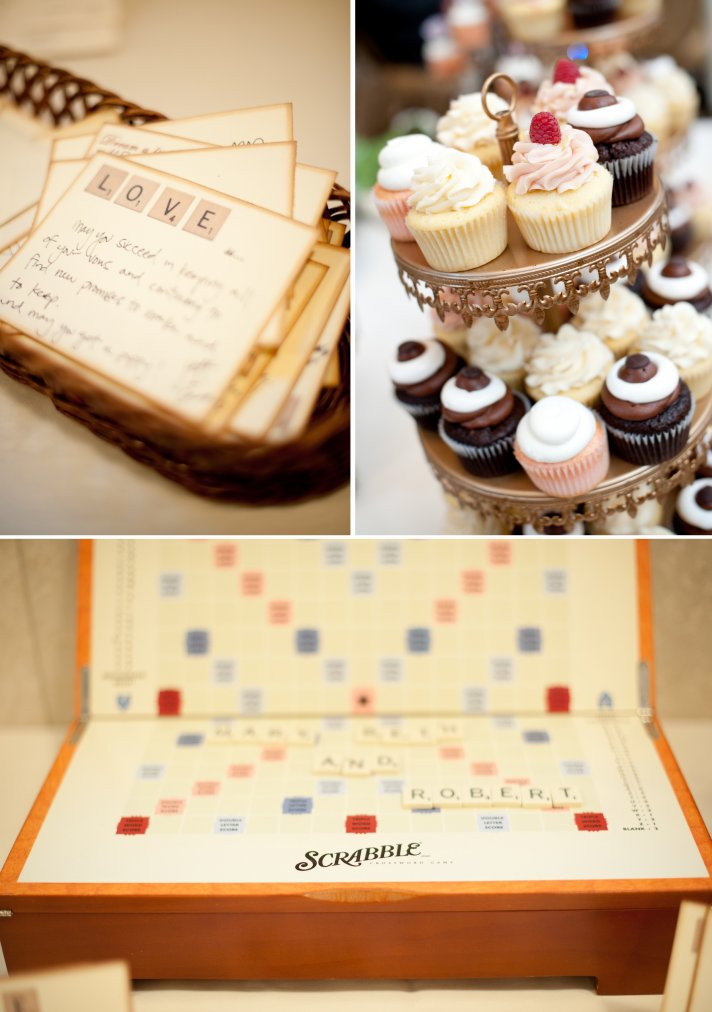 Scrabble themed wedding Virginia wedding venue decor 1