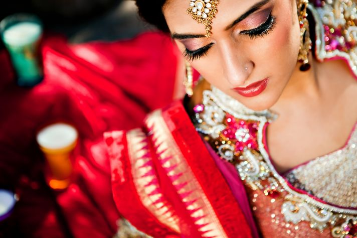 wedding planning ideas incorporating culture into I Dos Indian bride makeup