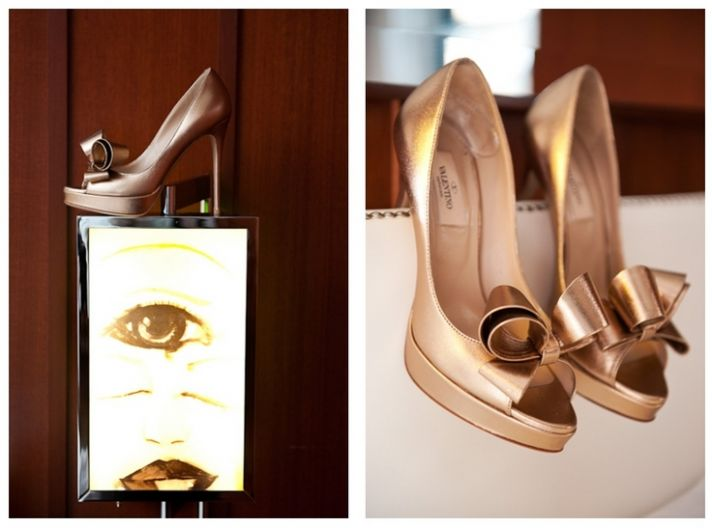copper wedding shoes Valentino