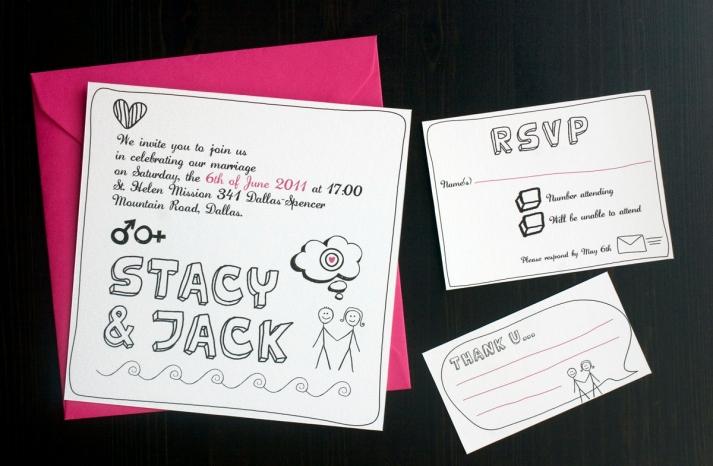 15 fun wedding finds on Etsy handmade weddings stick figure invitation suite