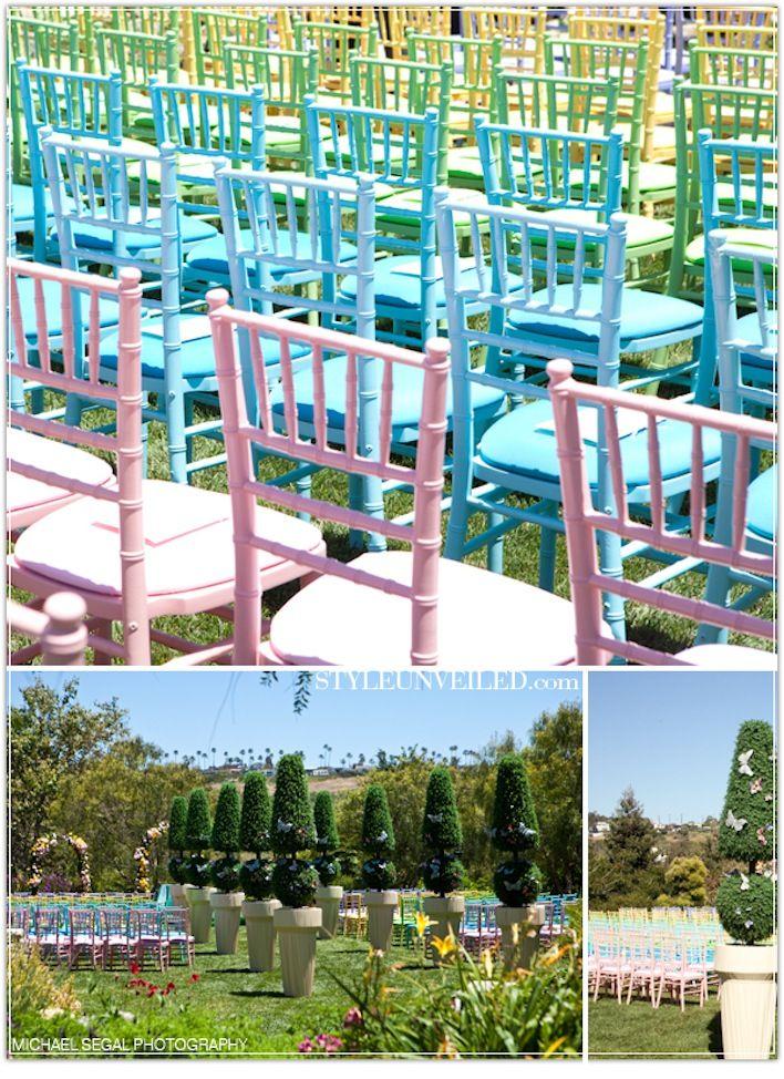 pretty wedding chairs creative wedding ceremony reception ideas pastel chiavaris