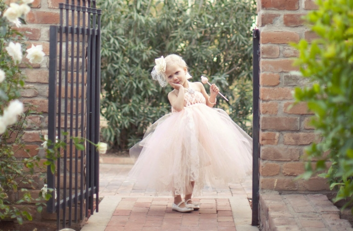 peach wedding pretties for romantic weddings flower girl dress