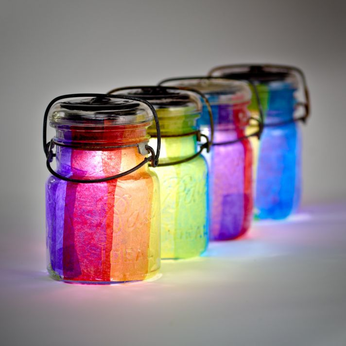 rainbow wedding inspiration colorful mason jars