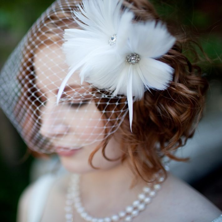 10 gorgeous bridal veils wedding hair accessories Bethany Lorelle birdcage veil