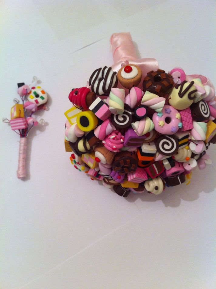 sugary sweet wedding decor edible handmade weddings candy bouquet boutonniere