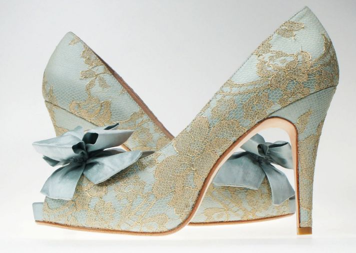 something blue wedding inspiration bridal style spotting shoes