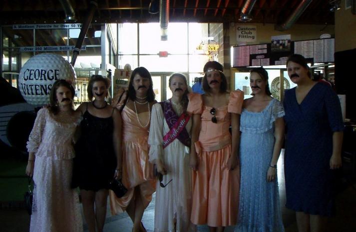 bad bridesmaid style ugly bridal party photos wedding fun mustaches
