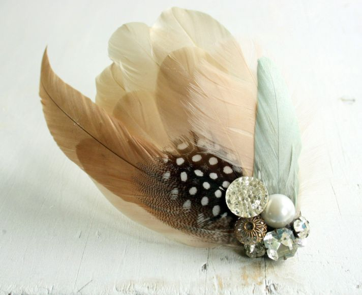 peaches and cream wedding color palette romantic weddings vintage headband