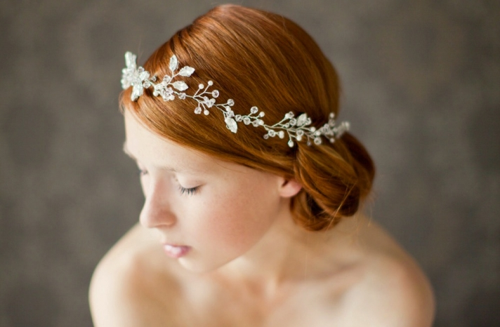 chic bridal headbands unique wedding hair accessories floral crown