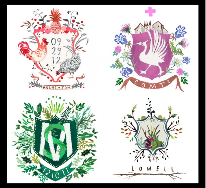 custom wedding ideas personalized details for stationery paper heraldry art 2