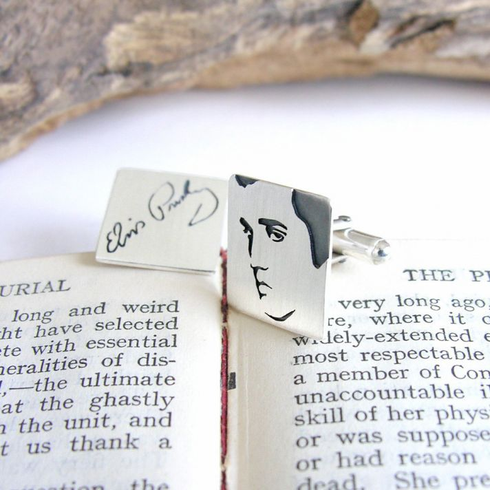 music themed wedding accessories ceremony reception decor Elvis cuff links