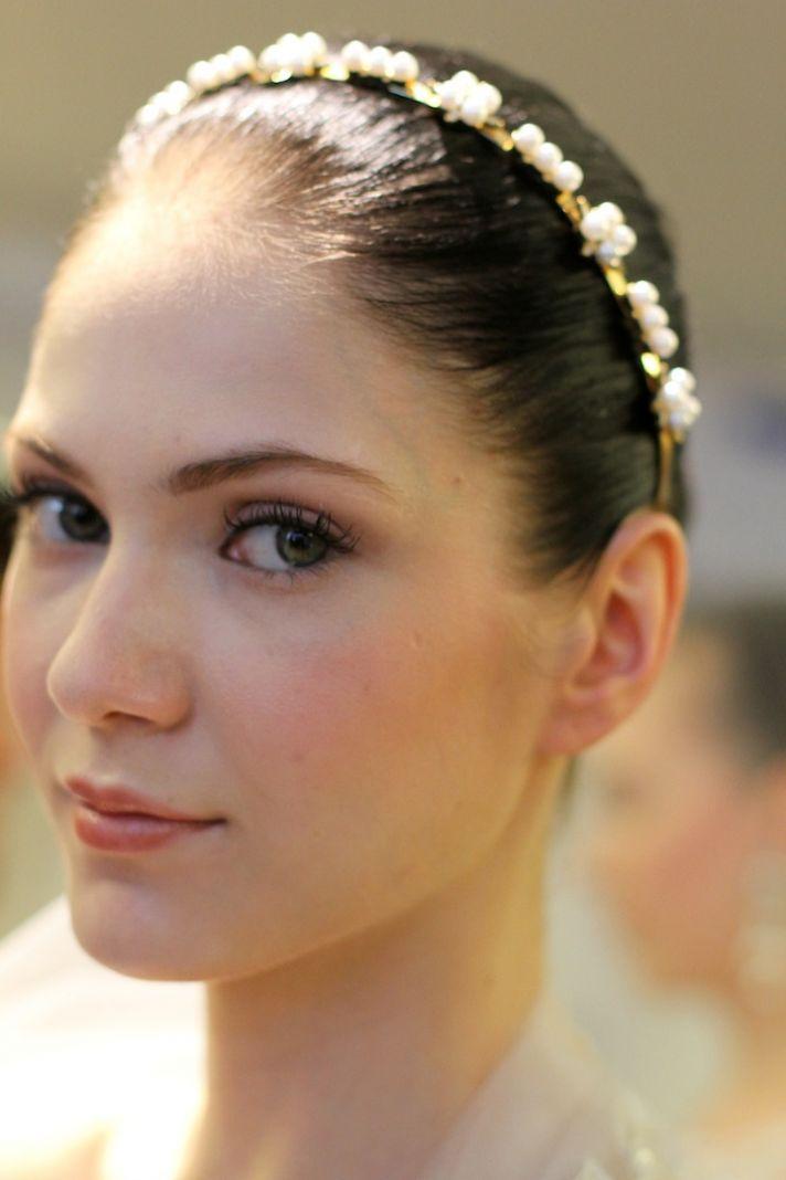 elegant wedding colors ivory cream green romantic bridal makeup