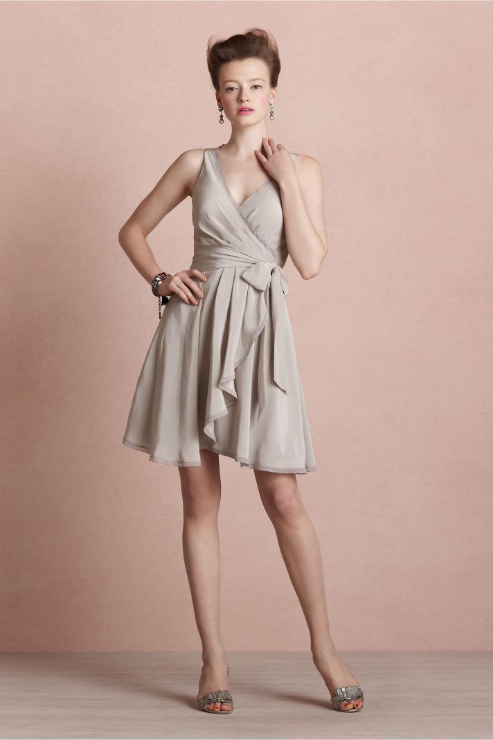covetable bridesmaid dresses from BHLDN 2013 bridal party style blush with pleats