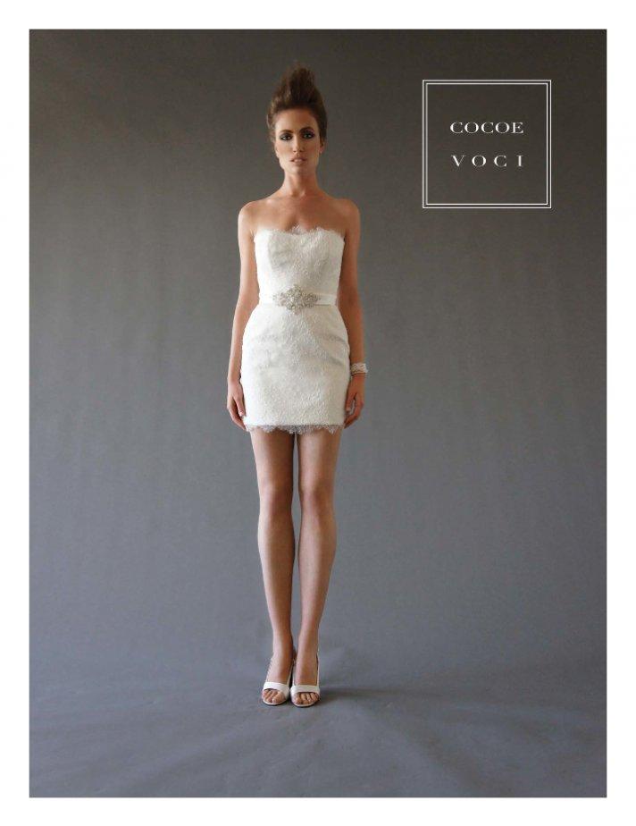 fall 2012 wedding dress Cocoe Voci bridal gowns lace LWD