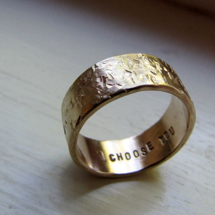 wedding bands your groom will love unique wedding rings from Etsy 4