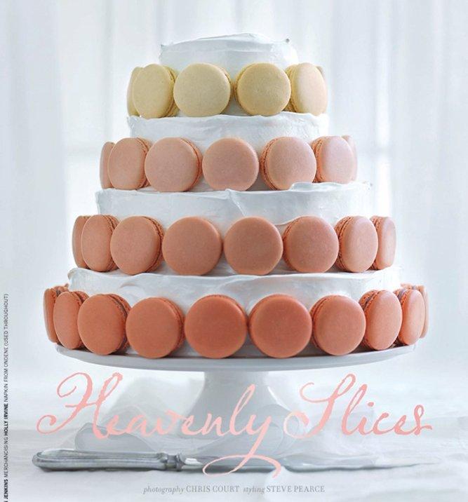 simple stunning wedding cake ombre pastel macaron cake