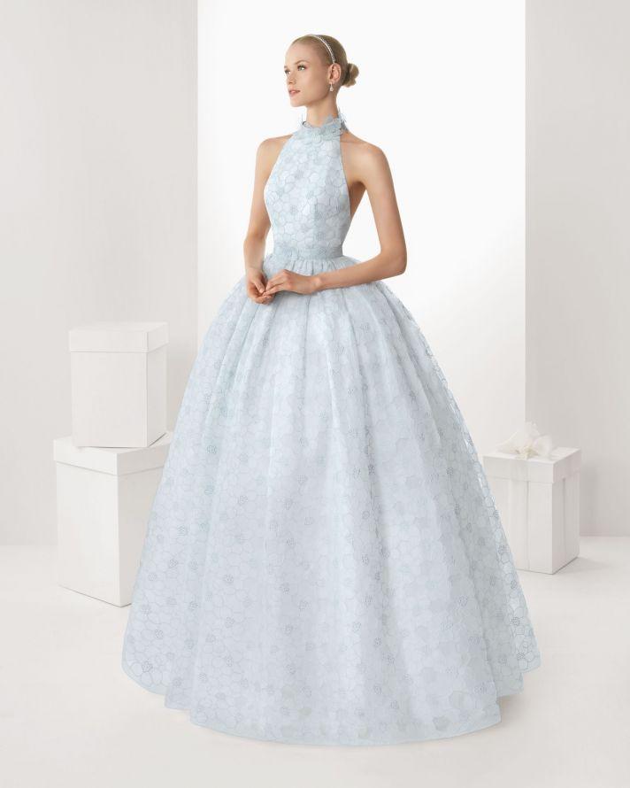 2013 wedding dresses beautiful statement backs by Rosa Clara sky blue