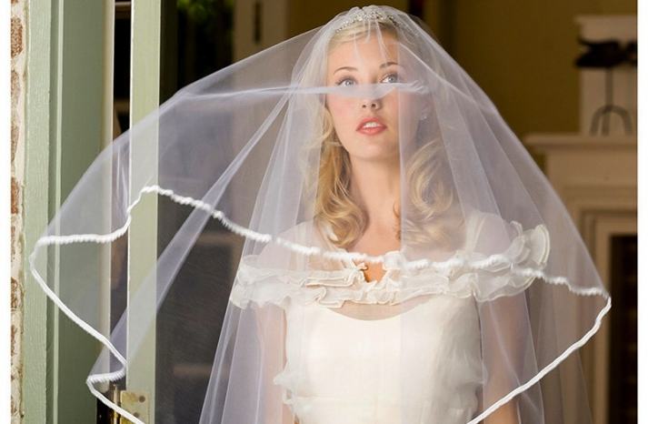 tulle wedding accessories for romantic brides from Etsy lace edge veil
