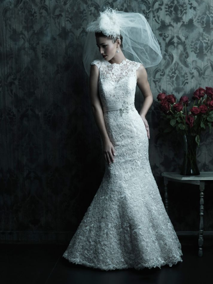 2013 wedding dress Allure Couture bridal gowns c226 b