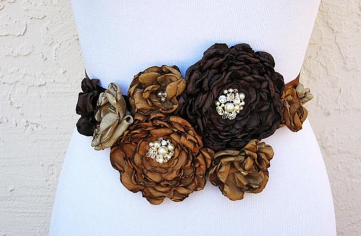 handmade wedding finds for fall weddings sash