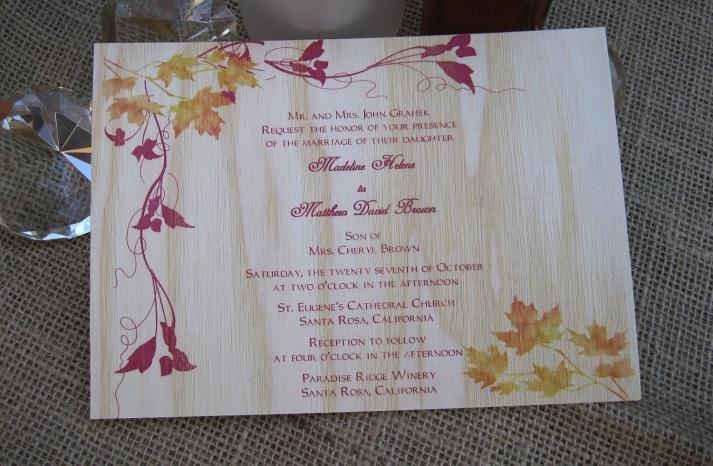handmade wedding finds for fall weddings wood invitation