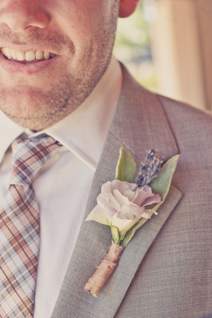 elegant real weddings lavender peach wedding colors grooms boutonniere