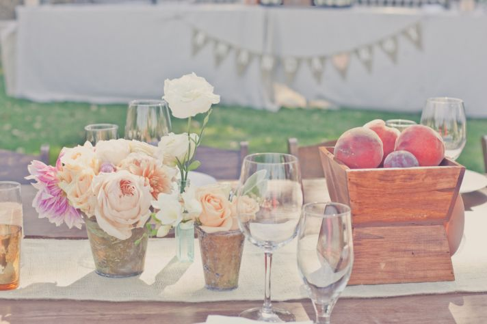 elegant real weddings lavender peach wedding colors reception table design