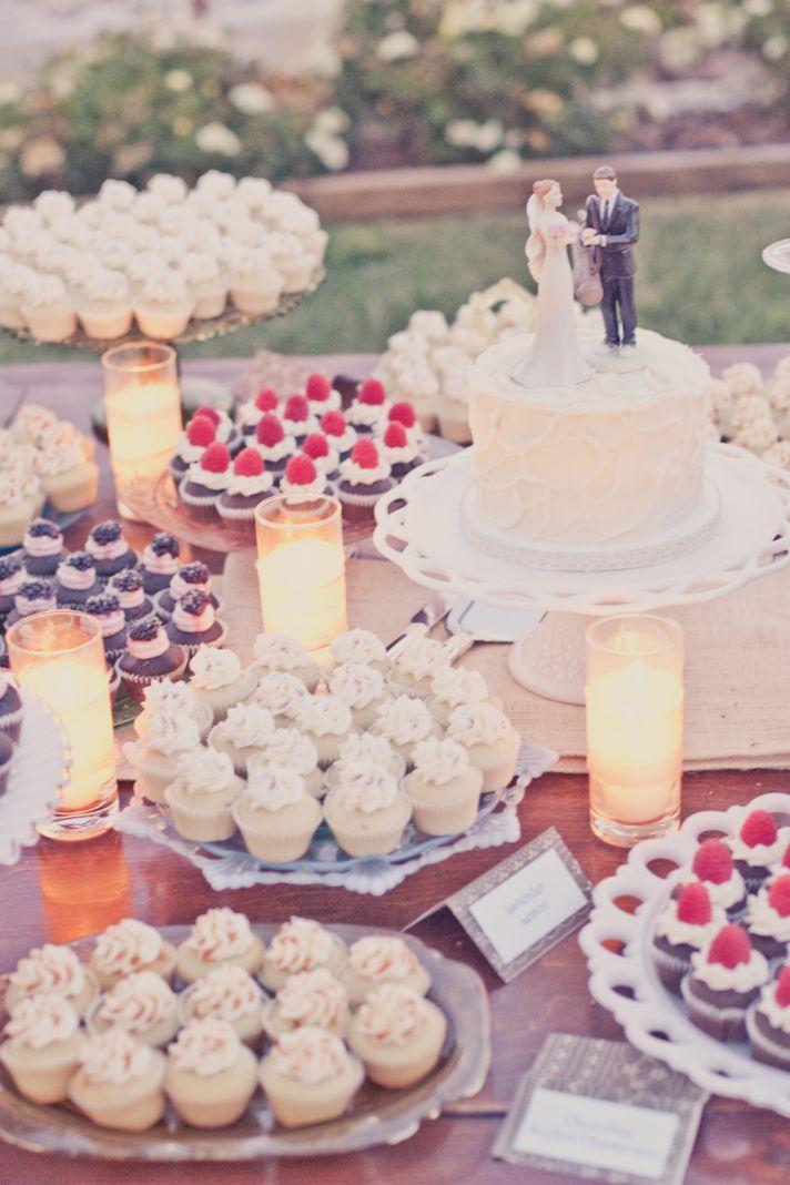 Elegant real weddings lavender peach wedding colors dessert table cake alternatives