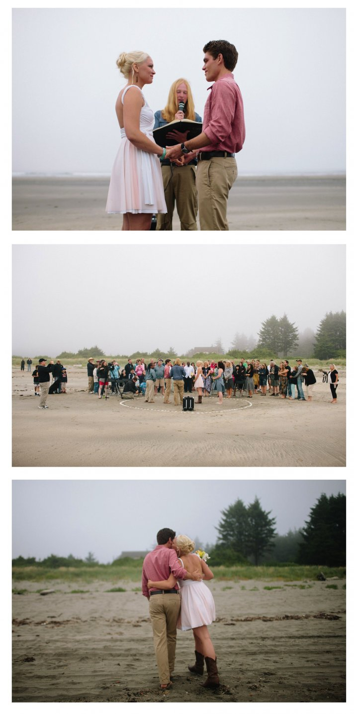 coffey wood beach real wedding linhbergh photography bride groom ceremony