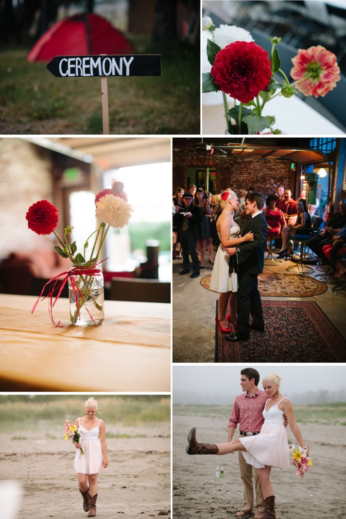 Beach Wedding In Seattle Casual Bride And Groom Two Part Reception