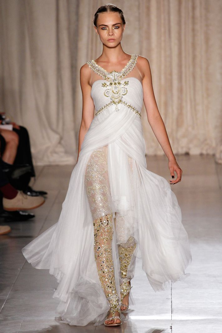 Little white wedding dress inspiration from new york for Indian wedding dresses new york