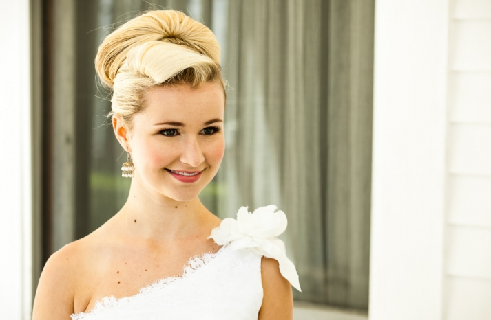 romantic mansion wedding with vintage inspired bride and groom bridal updo