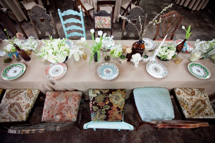 rustic ranch wedding inspiration reception decor tablescape