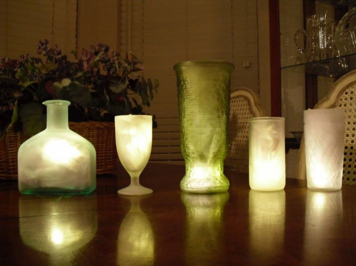 wedding DIYs reception lighting upcycled centerpiece