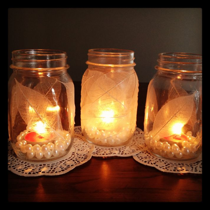 sparkling wedding DIY projects mason jars